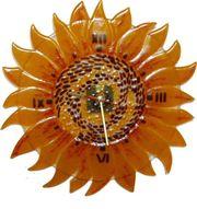 Декоративные часы для любого интерьера. Фьюзинг,  кристаллы Сваровски,