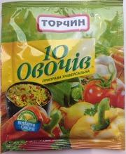 Торчин 10 овощей 60 грамм.